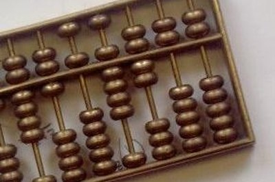 A basic Chinese abacus