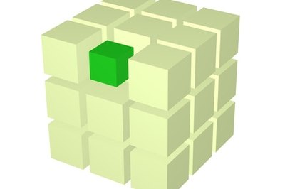 The green square, an edge piece, a corner, the cube