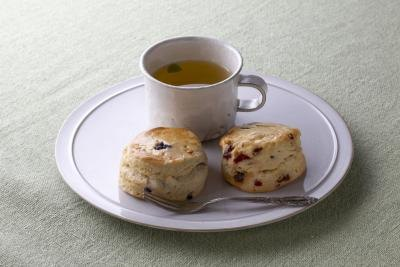 British scones often contain currants, and are usually served with tea.