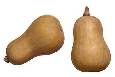 Butternut squash is a yellowish-tan color at full maturity.