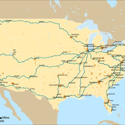 How To Plan A Train Vacation USA Today - Amtrak map of routes in us