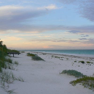 Sunset On The North Part Of Pink Sand Beach Harbour Island Bahamas