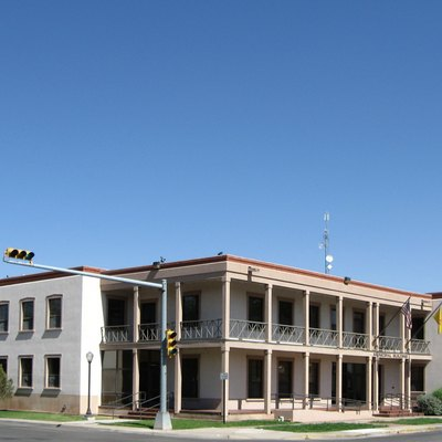 Carlsbad New Mexico Munil Building Located At 406 West Mermod Street