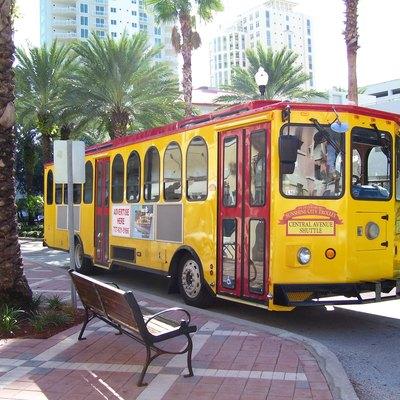 Trolley Serving Downtown St Petersburg FL