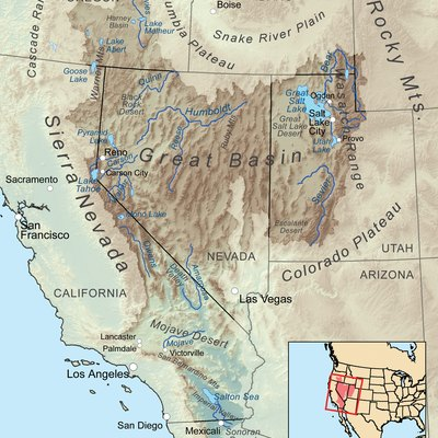 Facts About The Great Basin Desert USA Today - Map of deserts in the us