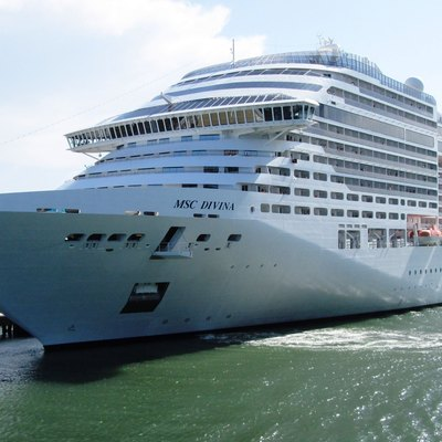 The Ms Msc Divina At Dock In Port Canaveral Florida Is Owned By Cruises It Was Christened 2017