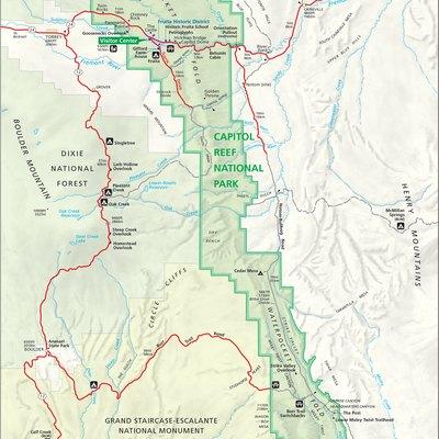 Utah National Parks In Winter USA Today - Utah national parks map