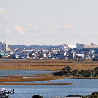 Morehead City North Carolina Seen From Atlantic Beach