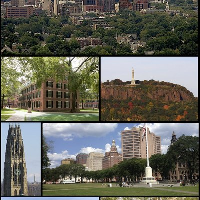 Montage Of New Haven Clockwise From Top Left Downtown Skyline East Rock Park Summer Festivities On The Green S Along Upper
