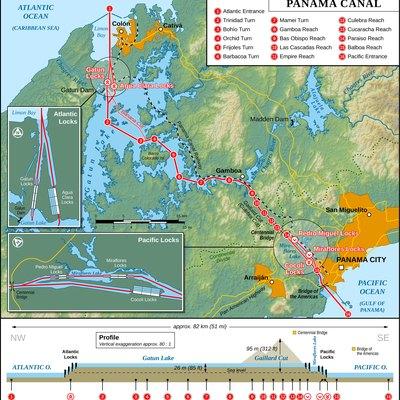 Map Of The Panama C English Version