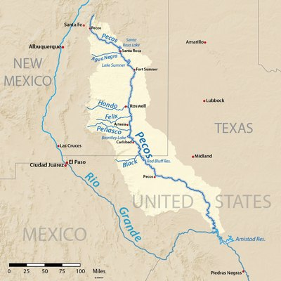 Camping On The Pecos River In Texas USA Today - Map of the rio grande river