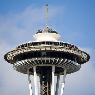 The top of the Space Needle in Seattle  WashingtonRestaurant in the Space Needle   USA Today. Dinner Seattle Space Needle. Home Design Ideas