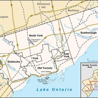 Landforms In Toronto USA Today - Toronto us map