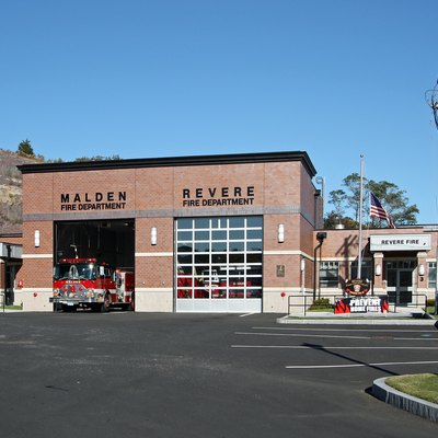 Dual Fire Stations Serve The Cities Of Revere Malden Machusetts Usa