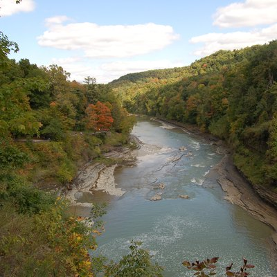 A View From The Upper Falls In Letchworth State Park