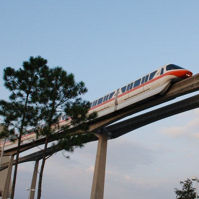 Walt Disney World Monorail Outside The Contemporary Hotel October 2006