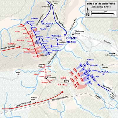 The Battle Of The Wilderness In Orange County Virginia USA Today - Us map civil war battles