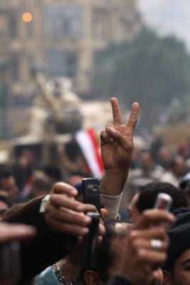 The 2011-2012 Egyptian revolution was aided by technological advances in communication.