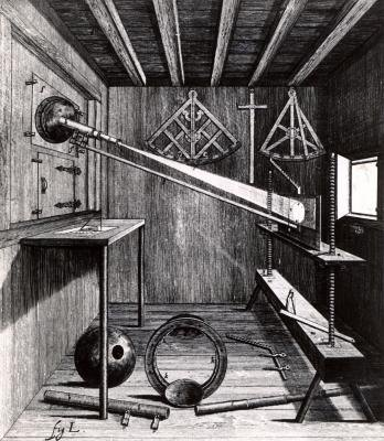 The camera obscura was invented by Muslim physicist Alhazen for projecting images.