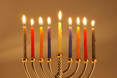 Hanukkah (Chunukah) is celebrated through the lighting of candles.