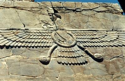 Ahura Mazda, one god of Zoroastrianism.