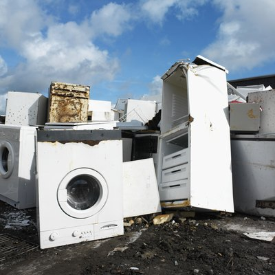 Recycling is preferable to the disposal of large appliances in a landfill.