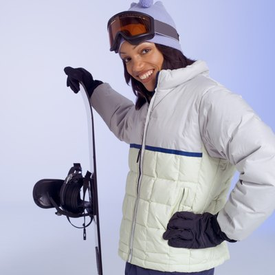 Goggles protect your eyes from the elements while snowboarding.