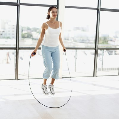 Jump roping can help tone your calves while burning calories.