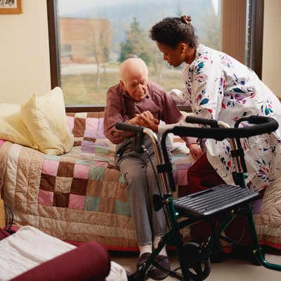 Nursing assistants help make hospitalized patients more comfortable.