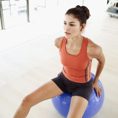 Sit on a yoga ball to improve your core strength and stability.