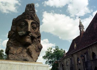 A Romanian bust of Dracula. Romanian folklore tells of ghosts and vampires.