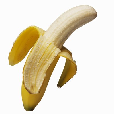 A fully ripe banana is high in potassium and low in calories.