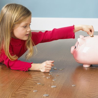 Instead of a piggy bank, have kids put money into a savings account.