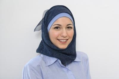Muslim woman in hijab.