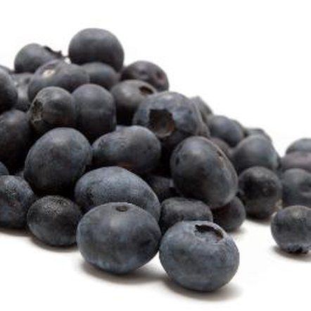 Blueberries contain a high concentration of the antioxidant anthocyanin.