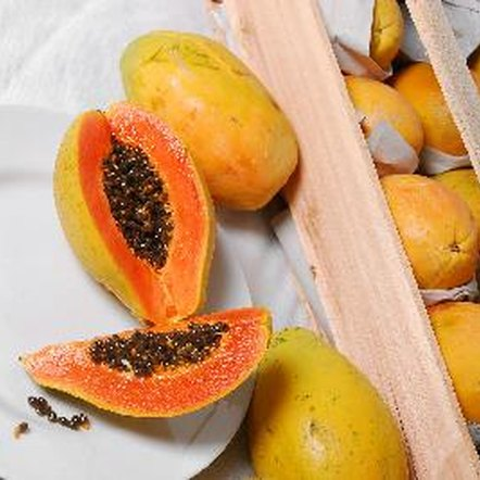 Dried papaya retains its orange color.