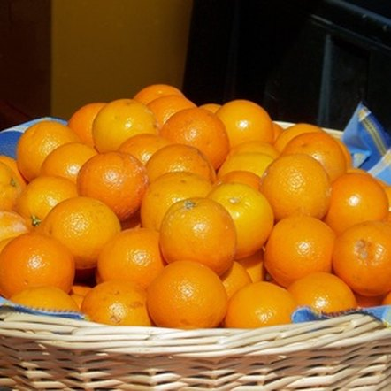 Oranges are a fat-free, nutritious fruit.