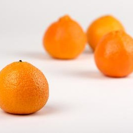 Clementine oranges are small and easy to peel.