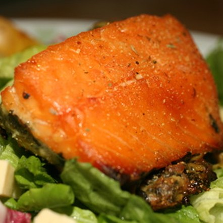 Salmon is high in protein and carb-free.