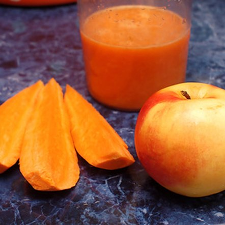 Carrot and apple juice has a naturally sweet and refreshing flavor.