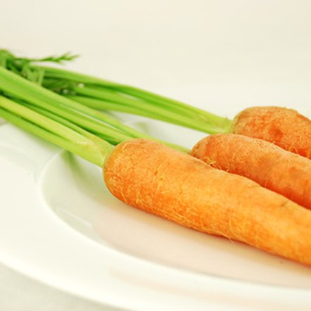A serving of raw carrots can provide a 60-year-old man with his RDA of vitamin A.
