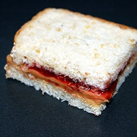 A peanut butter and jelly sandwich is a good source of carbohydrates.