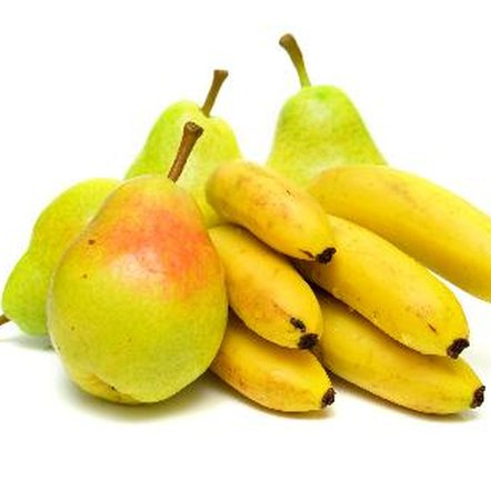 Pears, bananas and apples have many nutritional benefits.