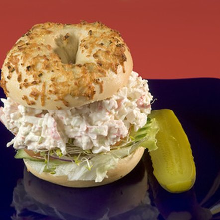 Imitation crab meat blends well into seafood sandwiches.