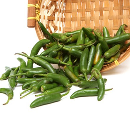Green chili peppers are a good source of vitamins A and C.