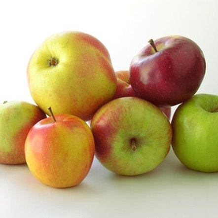 Apples are a healthy source of fiber, potassium and vitamin C.