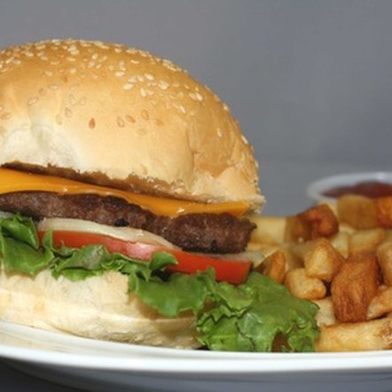 Fast food meals often contain excess fat, salt and sugar.