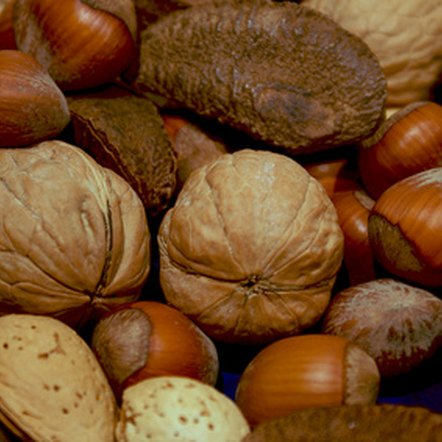Nuts are a nutritious source of vitamin E.