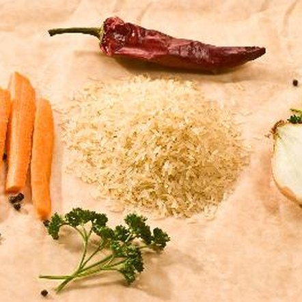 Steamed vegetables and brown rice are healthy dietary choices.