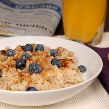 Eat a bowl of oatmeal porridge with berries for a healthy breakfast.